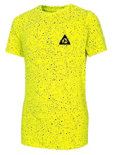 T-shirt dziecięcy 4F bawełniany JTSM006B neon