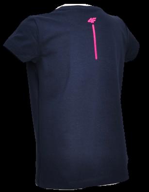 T-shirt dziewczęcy 4F granat JTSD007A bawełna