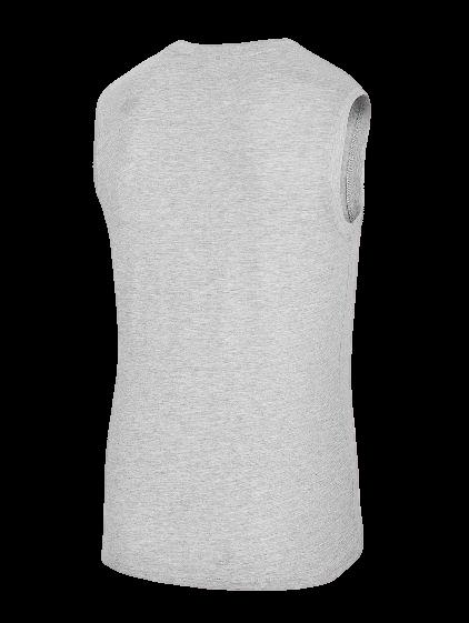 T-shirt męski 4F TSM001 bez rękawów szary