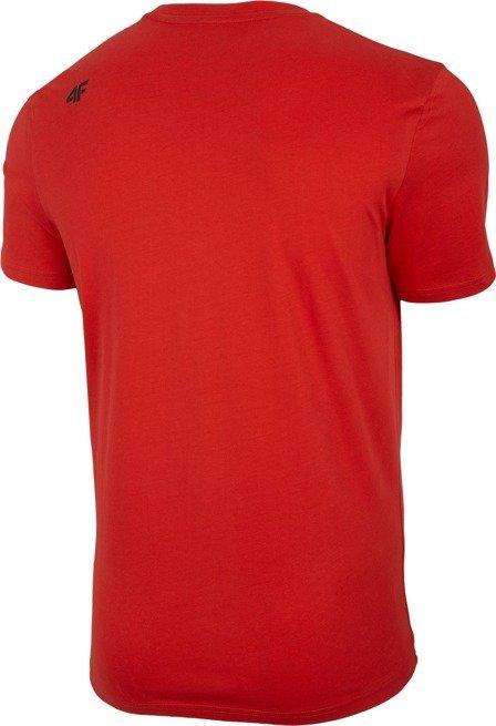 T-shirt męski 4F TSM004 CZERWONY