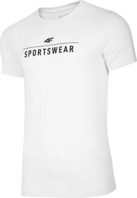 T-shirt męski 4F TSM005 BIAŁY