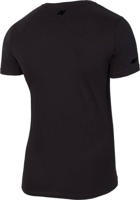 T-shirt męski 4F TSM016 bawełniany czarny