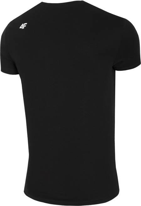 T-shirt męski 4F TSM023 bawełniany czarny