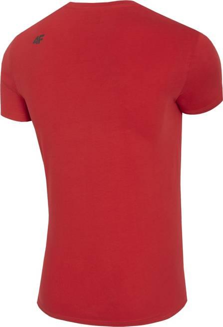 T-shirt męski 4F TSM023 bawełniany czerwony