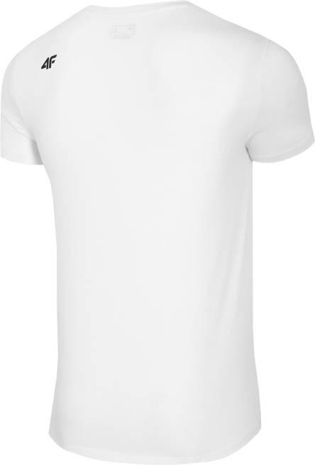 T-shirt męski 4F TSM024 bawełniany biały
