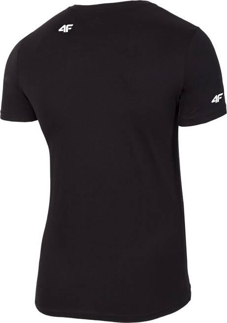 T-shirt męski 4F TSM025 bawełniany czarny