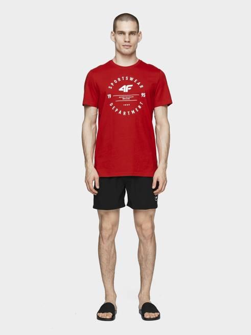 T-shirt męski 4F TSM030 czerwony bawełna