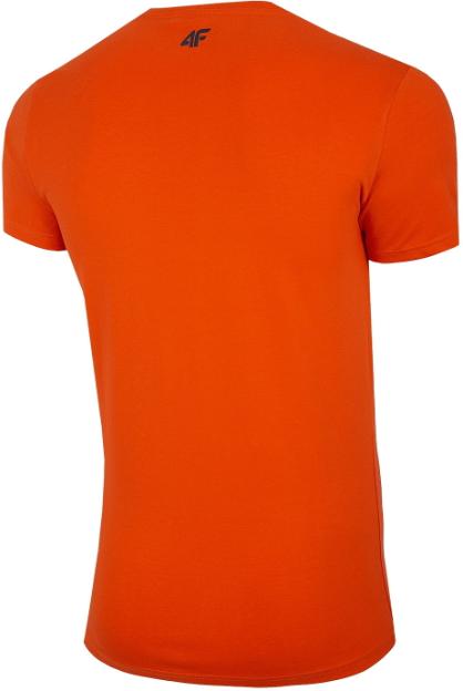 T-shirt męski 4F TSM030 koszulka pomarańczowa