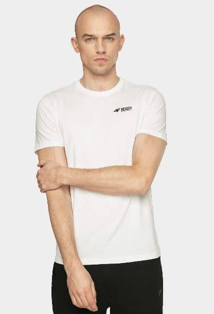 T-shirt męski 4F koszulka TSM021 biała