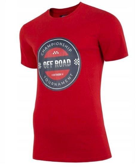 T-shirt męski Outhorn TSM603 czerwony