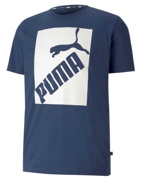 T-shirt męski PUMA BIG LOGO 581386 niebieski