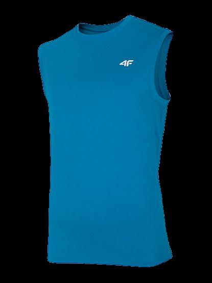T-shirt męski TSM001 bez rękawów 4F niebieski