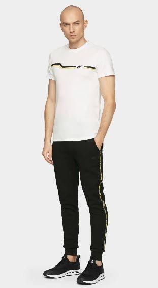 T-shirt męski bawełniany 4F TSM024A biały