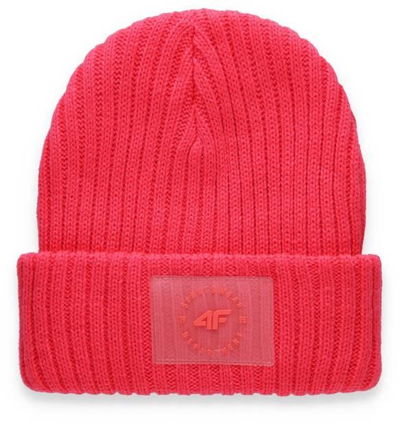 czapka zimowa damska 4F CAD004 neon