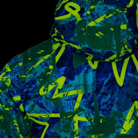 kurtka narciarska chłopięca JKUMN001A Biało-granatowa 134