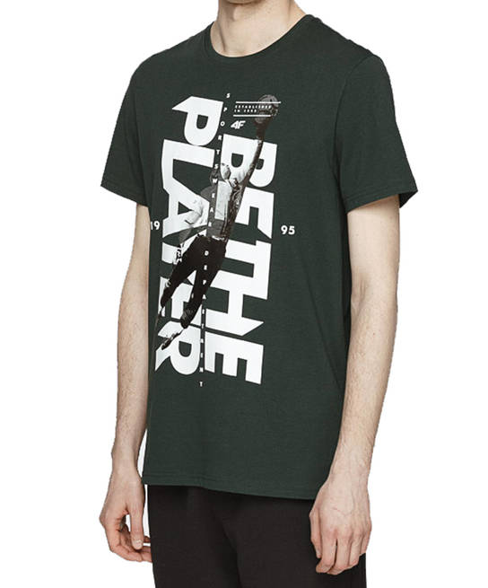 t-shirt męski 4F koszulka TSM012 bawełna zieleń