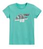 T-shirt dziecięcy 4F JTSD006A bawełniany mięta
